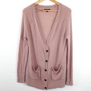 American Eagle blush pink fuzzy cardigan medium